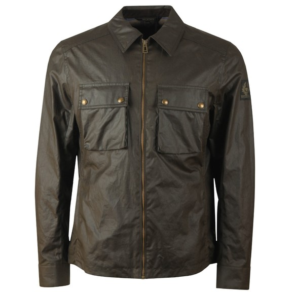 Belstaff Mens Green Dunstall Wax Overshirt