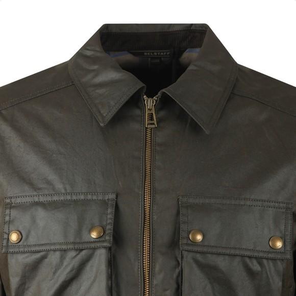 Belstaff Mens Green Dunstall Wax Overshirt