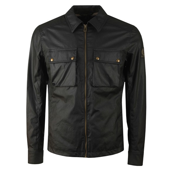 Belstaff Mens Black Dunstall Wax Overshirt