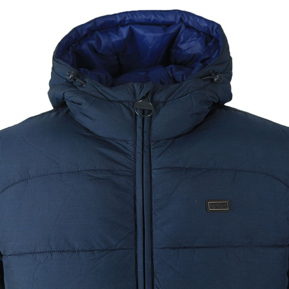 Barbour International Mens Blue Court Quilt Jacket main image