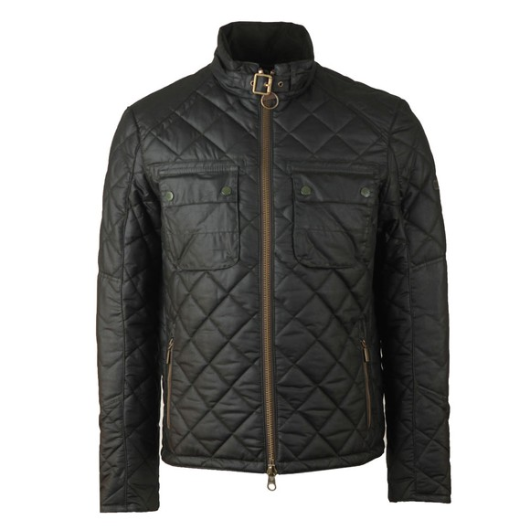 Barbour International Mens Green Peel Wax Jacket