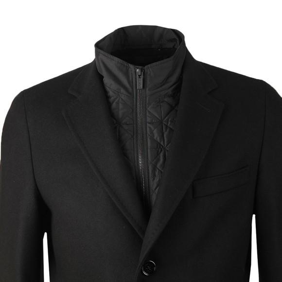 HUGO Mens Black Milogan2041 Wool Coat