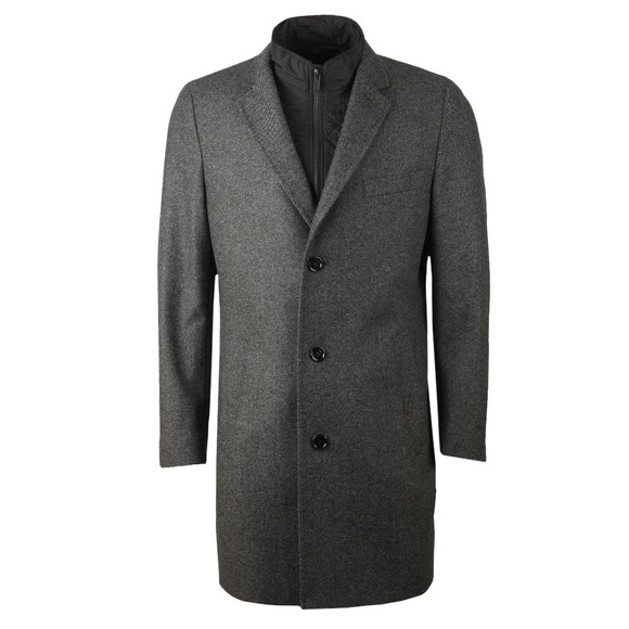 HUGO Mens Grey Milogan2041 Wool Coat