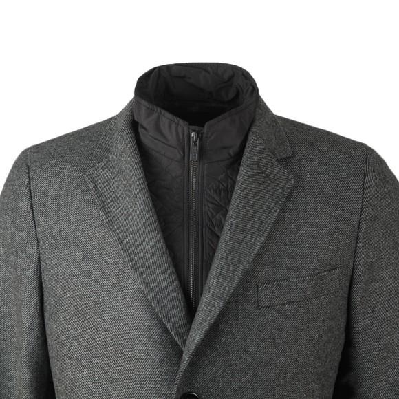 HUGO Mens Grey Milogan2041 Wool Coat