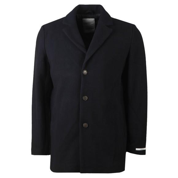 Les Deux Mens Blue Montgomery Wool Coat main image