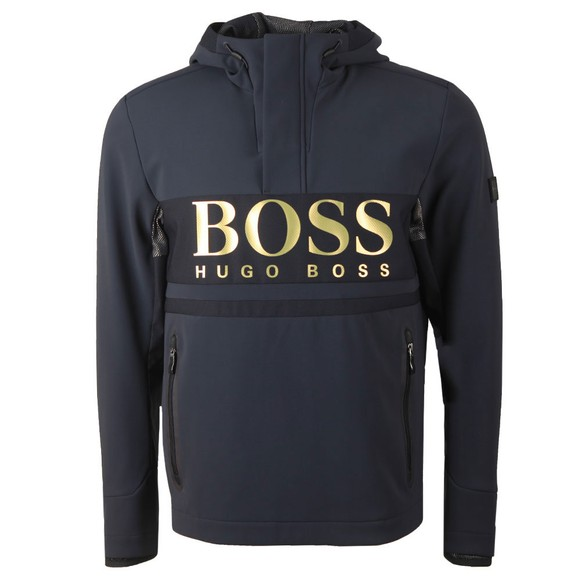 BOSS Mens Blue Athleisure Stelvio Overhead Jacket