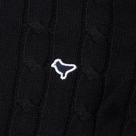 Weekend Offender Mens Black Bogota Cable Knit Jumper main image