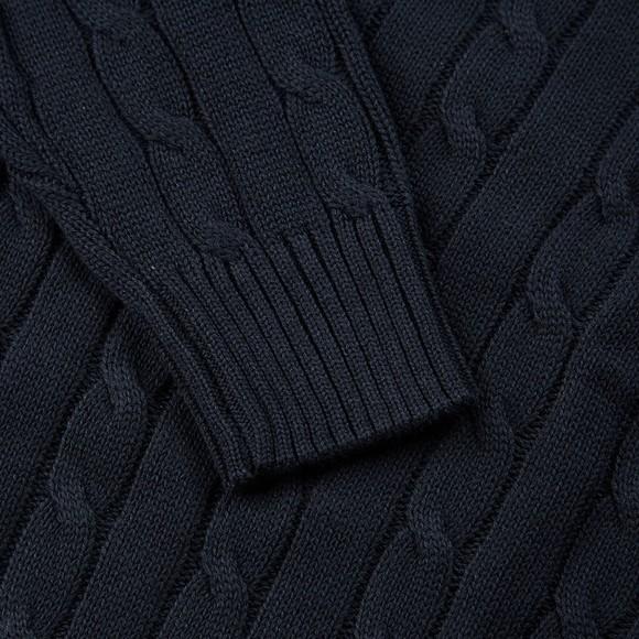 Weekend Offender Mens Blue Bogota Cable Knit Jumper main image