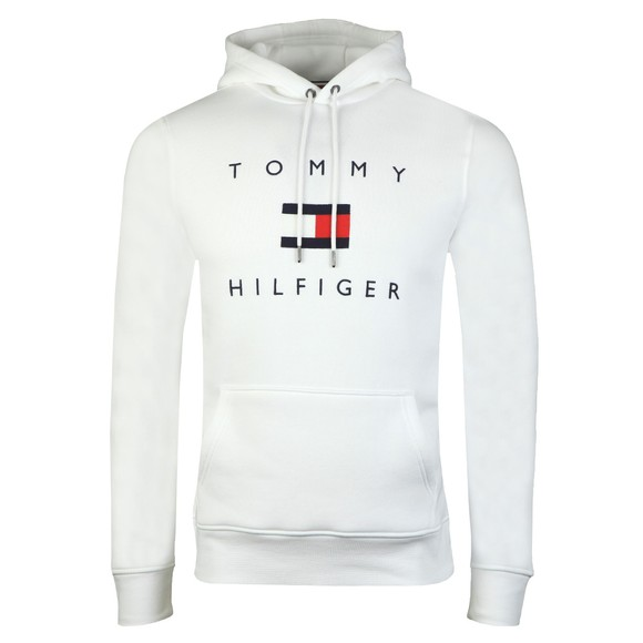 Tommy Hilfiger Mens White Flag Hoody