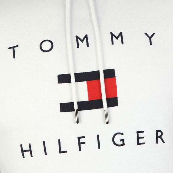 Tommy Hilfiger Mens White Flag Hoody main image