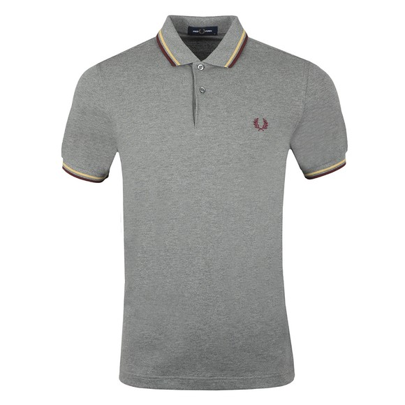 Fred Perry Mens Grey Twin Tipped Polo Shirt main image