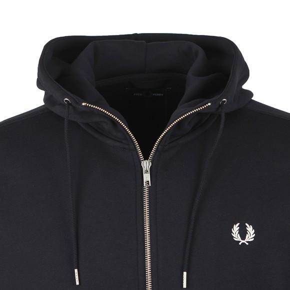 Fred Perry Mens Blue Hooded Zip Through Sweatshirt main image