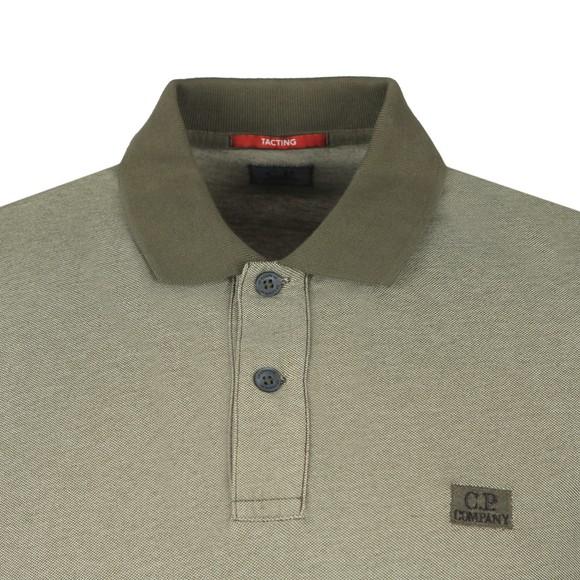 C.P. Company Mens Green Tacting Polo Shirt