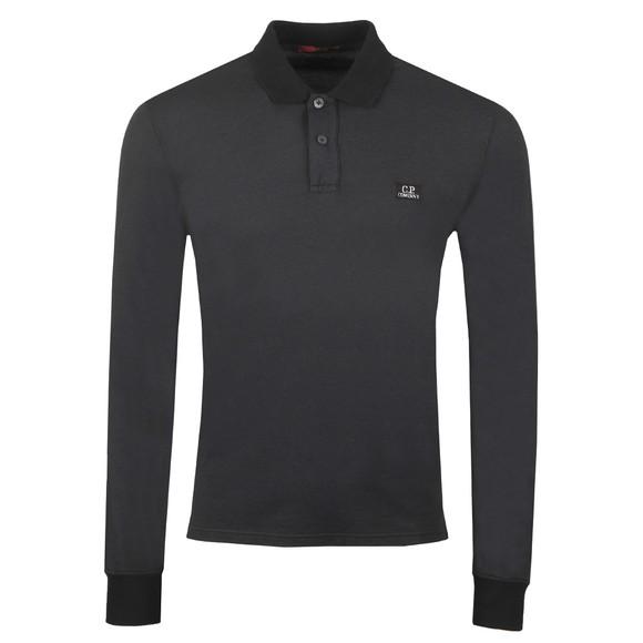 C.P. Company Mens Black Tacting Long Sleeve Polo Shirt
