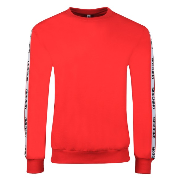 Moschino Mens Red Tape Crew Sweatshirt