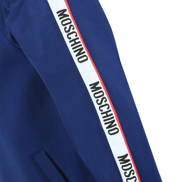 Moschino Mens Blue Tape Full Zip Hoody