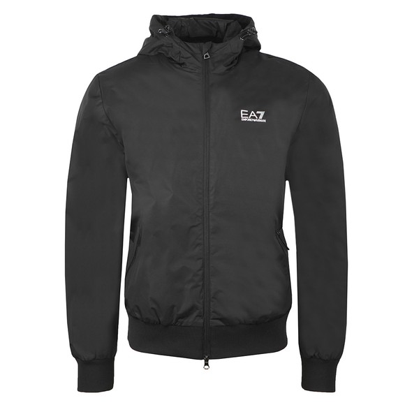 EA7 Emporio Armani Mens Black Hooded Bomber Jacket