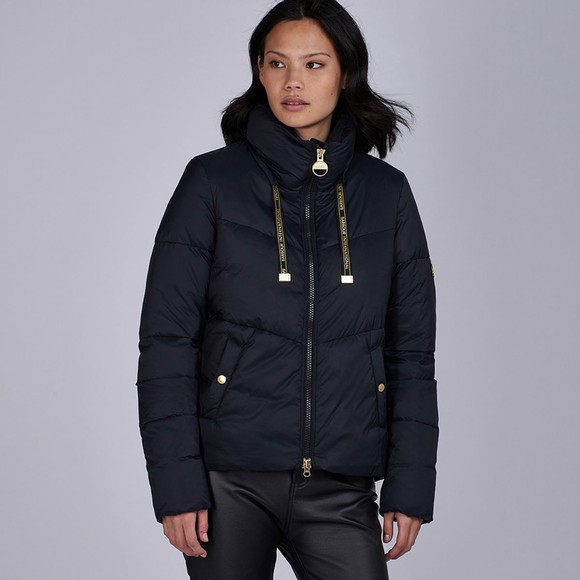 Barbour International Womens Black Kendrew Quilt main image