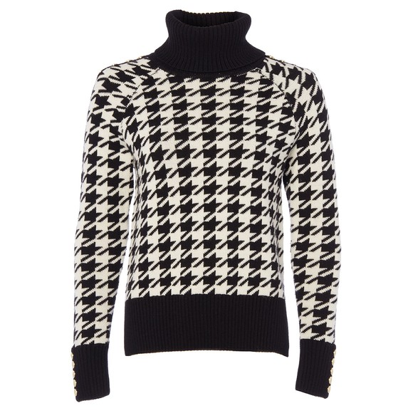 Holland Cooper Womens Houndstooth Heritage Knit Jumper main image