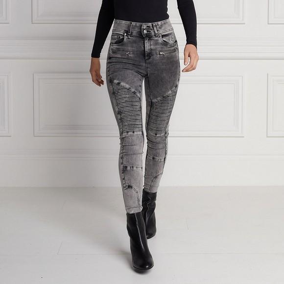 Holland Cooper Womens Grey Biker Jean