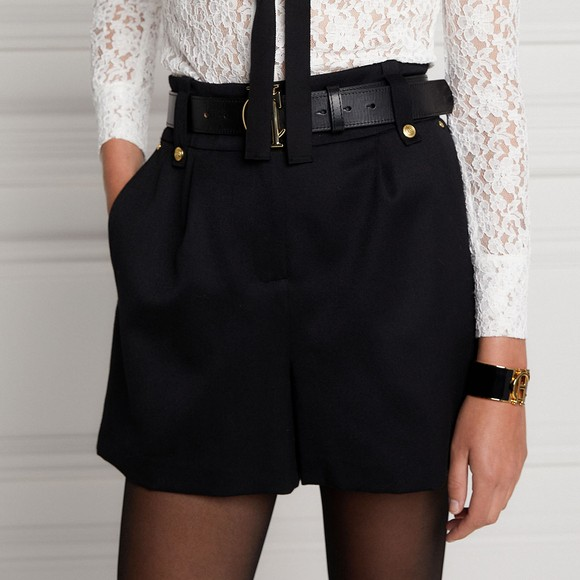 Holland Cooper Womens Black Luxe Tailored Short main image