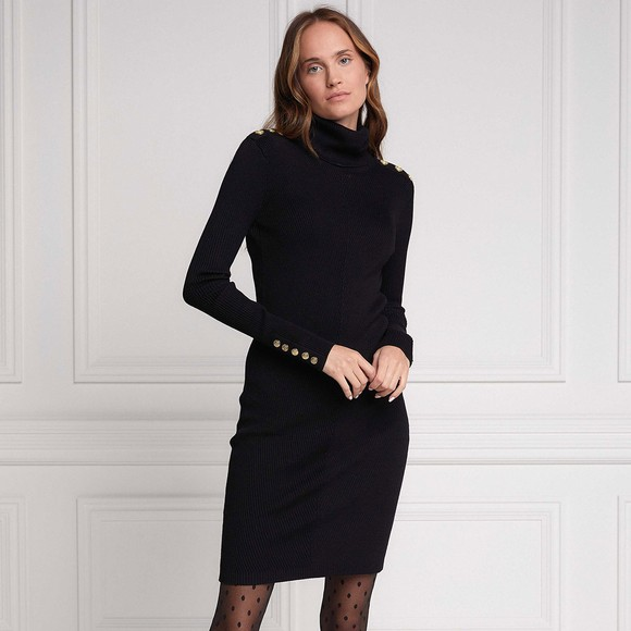 Holland Cooper Womens Black Kensington Jumper Dress main image
