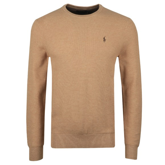 Polo Ralph Lauren Mens Brown Waffle Crew Neck Sweatshirt