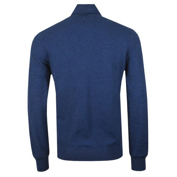 Polo Ralph Lauren Mens Blue Waffle Half Zip Sweatshirt main image