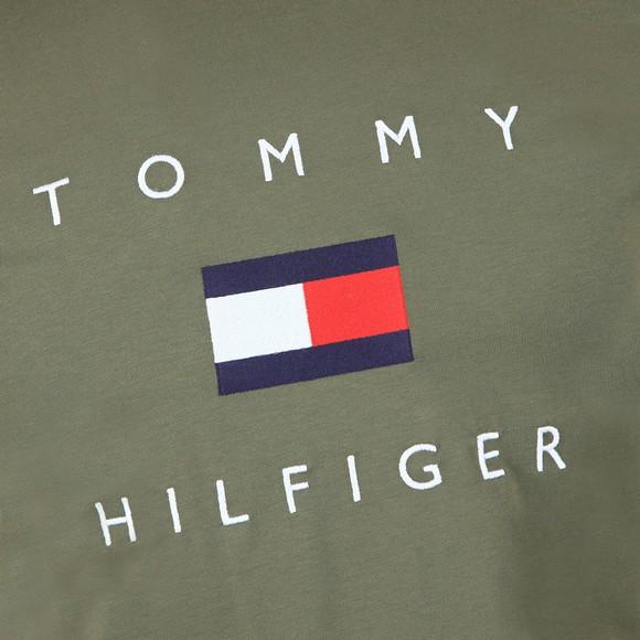Tommy Hilfiger Mens Green Flag T-Shirt