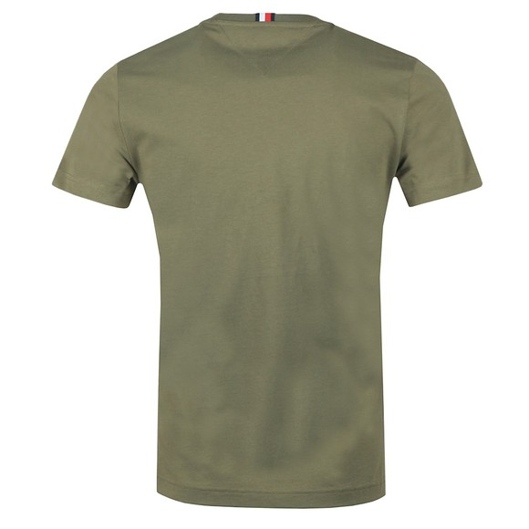 Tommy Hilfiger Mens Green Flag T-Shirt main image