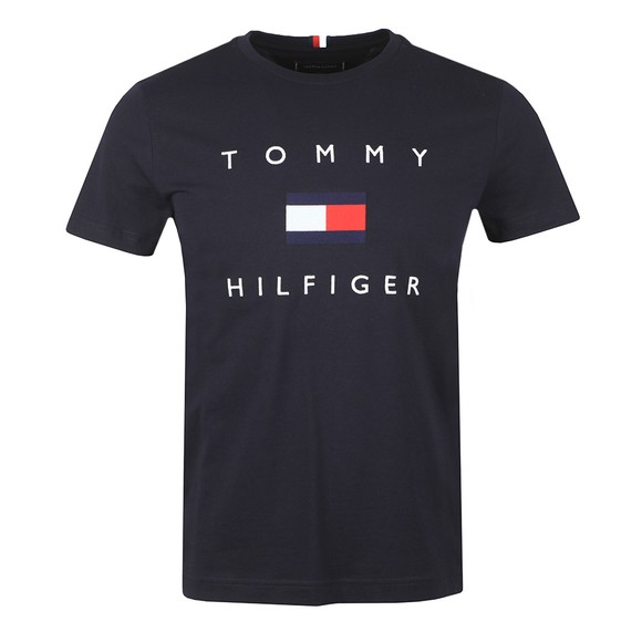 Tommy Hilfiger Mens Blue Flag T-Shirt