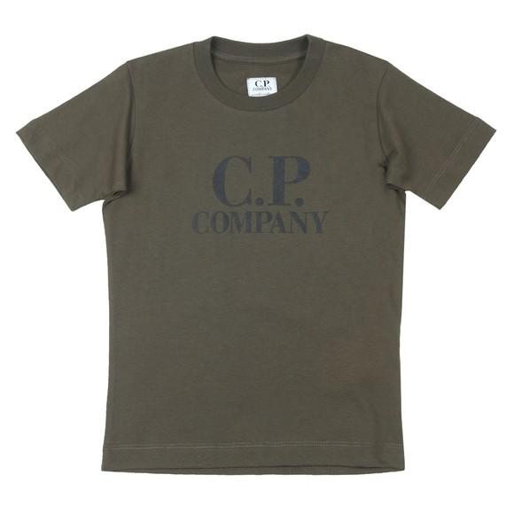 C.P. Company Undersixteen Boys Green Printed Goggle T-Shirt