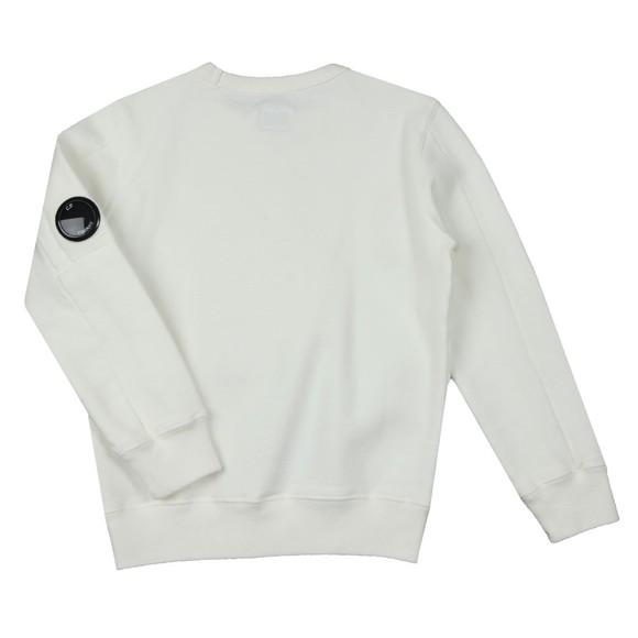 C.P. Company Undersixteen Boys White Logo Viewfinder Sleeve Sweatshirt
