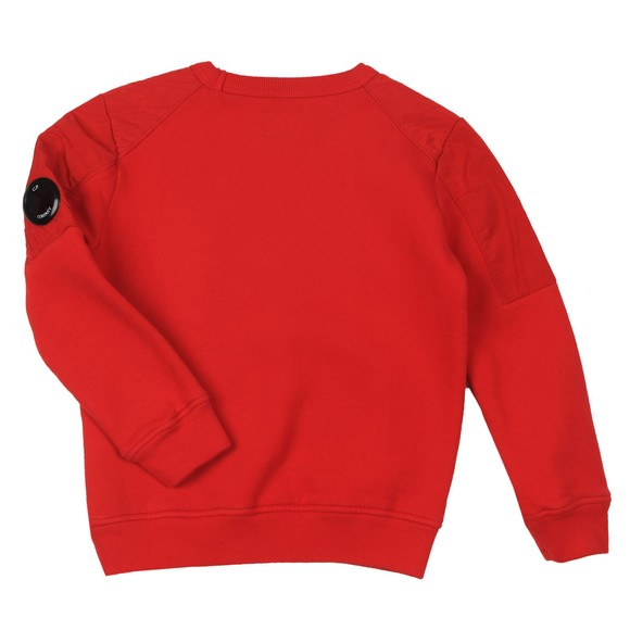 C.P. Company Undersixteen Boys Red Nylon Shoulder Crew Sweatshirt main image