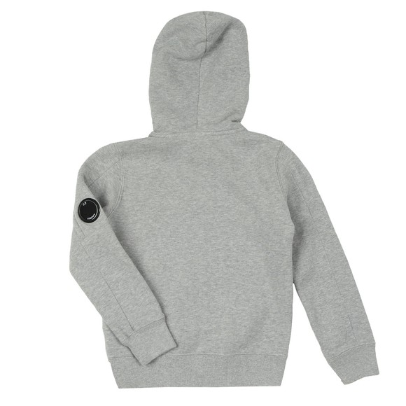 C.P. Company Undersixteen Boys Grey Fleece Overhead Viewfinder Sleeve Hoody main image