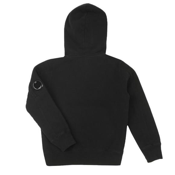 C.P. Company Undersixteen Boys Black Fleece Overhead Viewfinder Sleeve Hoody