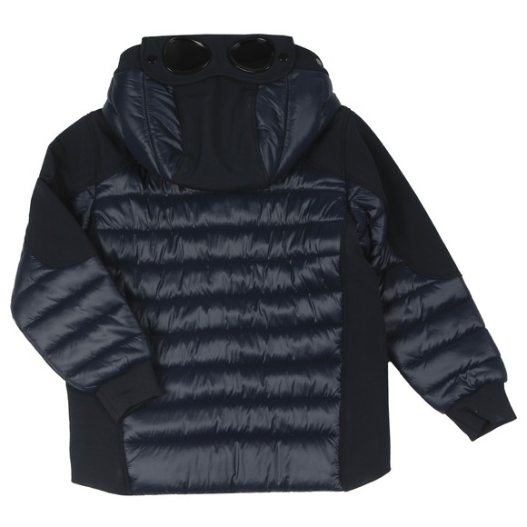 C.P. Company Undersixteen Boys Blue Mixed Fabric Goggle Jacket main image