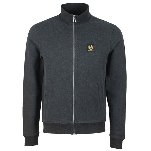 Belstaff Mens Grey Zip Through Sweatshirt