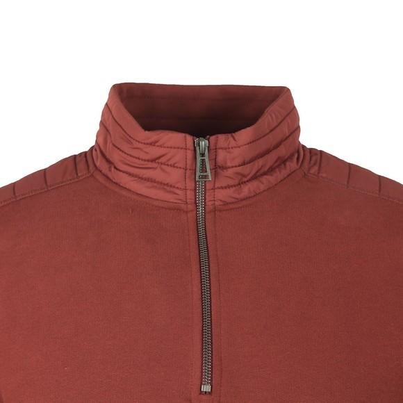 Belstaff Mens Red Jaxon Quarter Zip Sweatshirt
