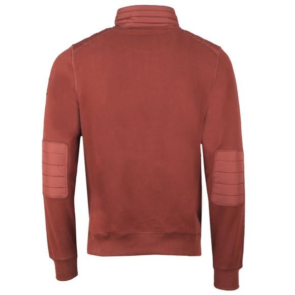 Belstaff Mens Red Jaxon Quarter Zip Sweatshirt main image