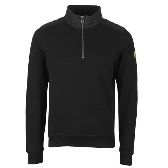 Belstaff Mens Black Jaxon Quarter Zip Sweatshirt
