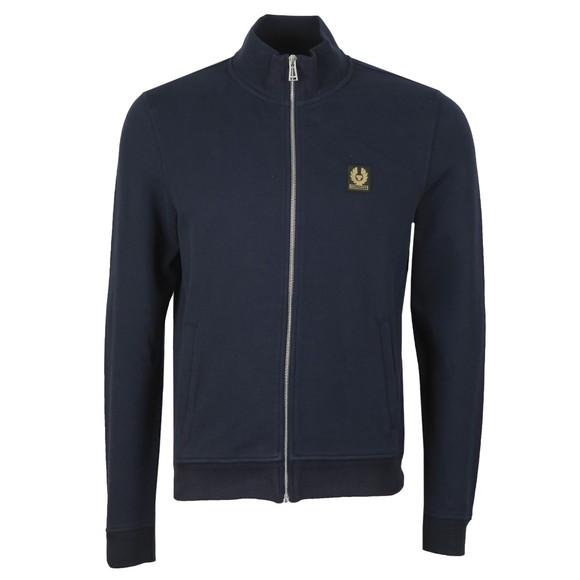 Belstaff Mens Blue Zip Through Sweatshirt