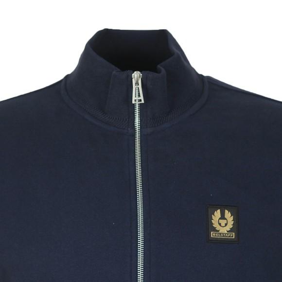 Belstaff Mens Blue Zip Through Sweatshirt