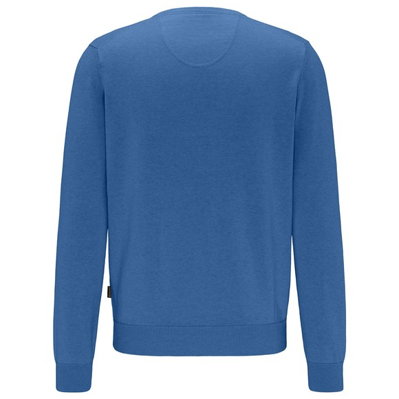 Fynch Hatton Mens Blue V Neck Jumper