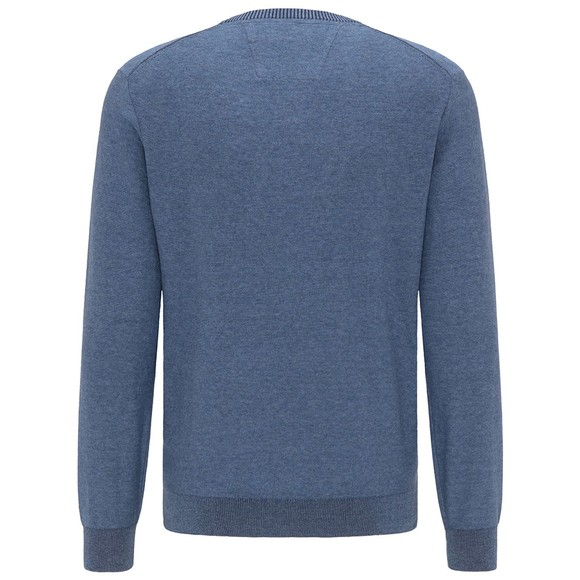 Fynch Hatton Mens Blue Crew Neck Jumper