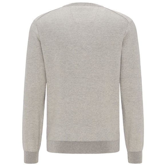 Fynch Hatton Mens Grey Crew Neck Jumper main image