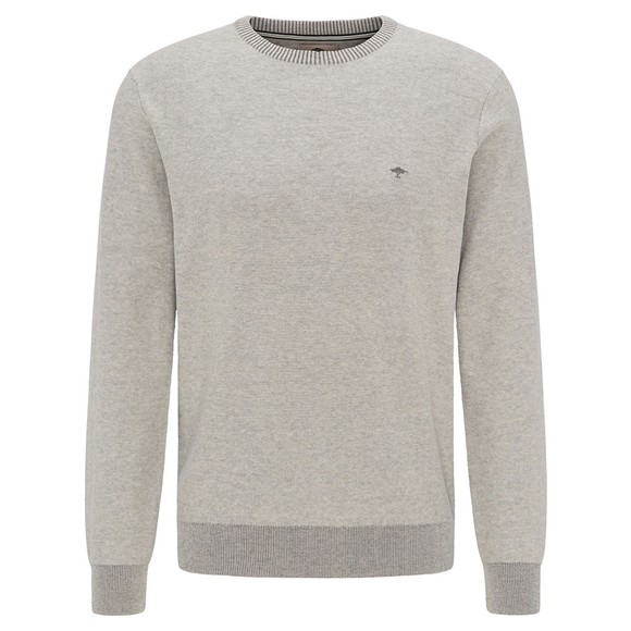 Fynch Hatton Mens Grey Crew Neck Jumper