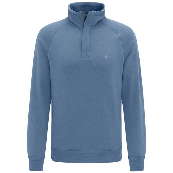 Fynch Hatton Mens Blue 1/2 Zip Sweatshirt main image