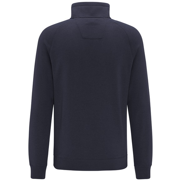 Fynch Hatton Mens Blue 1/2 Zip Sweatshirt main image