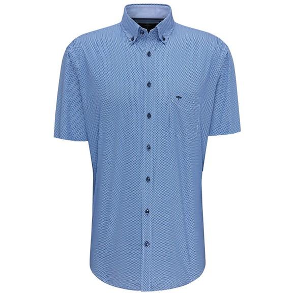 Fynch Hatton Mens Blue Summer Print Shirt